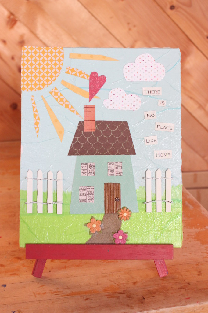 Teal Two-Storey House $18